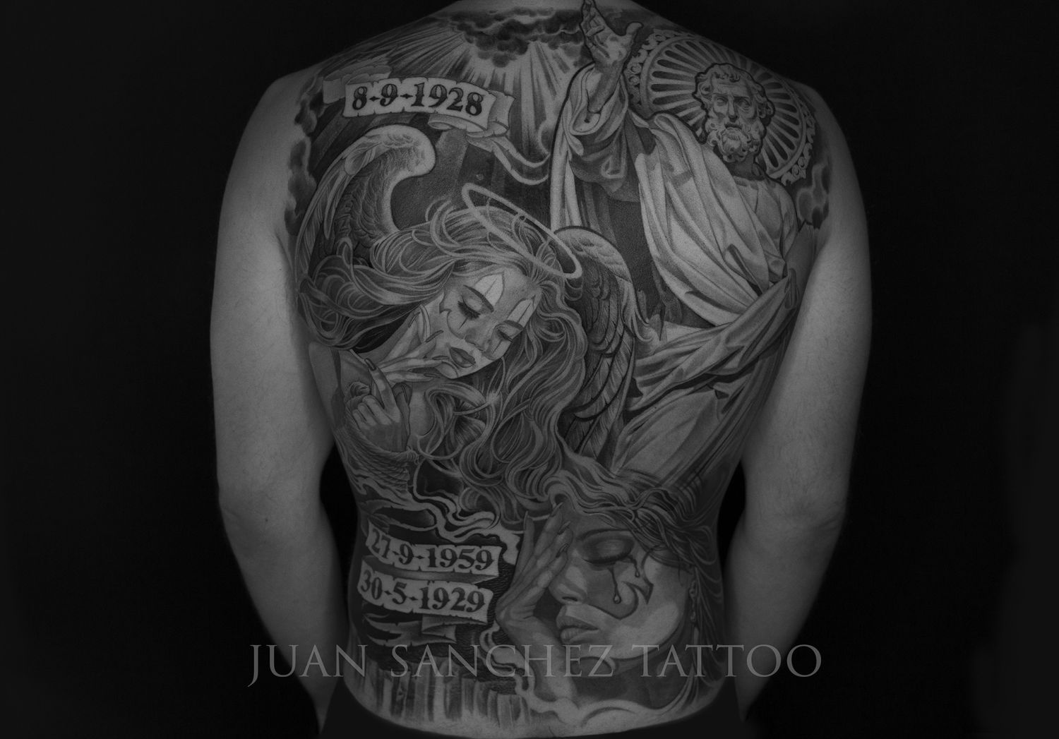 Back Piece Back Piece Project done in Black and...