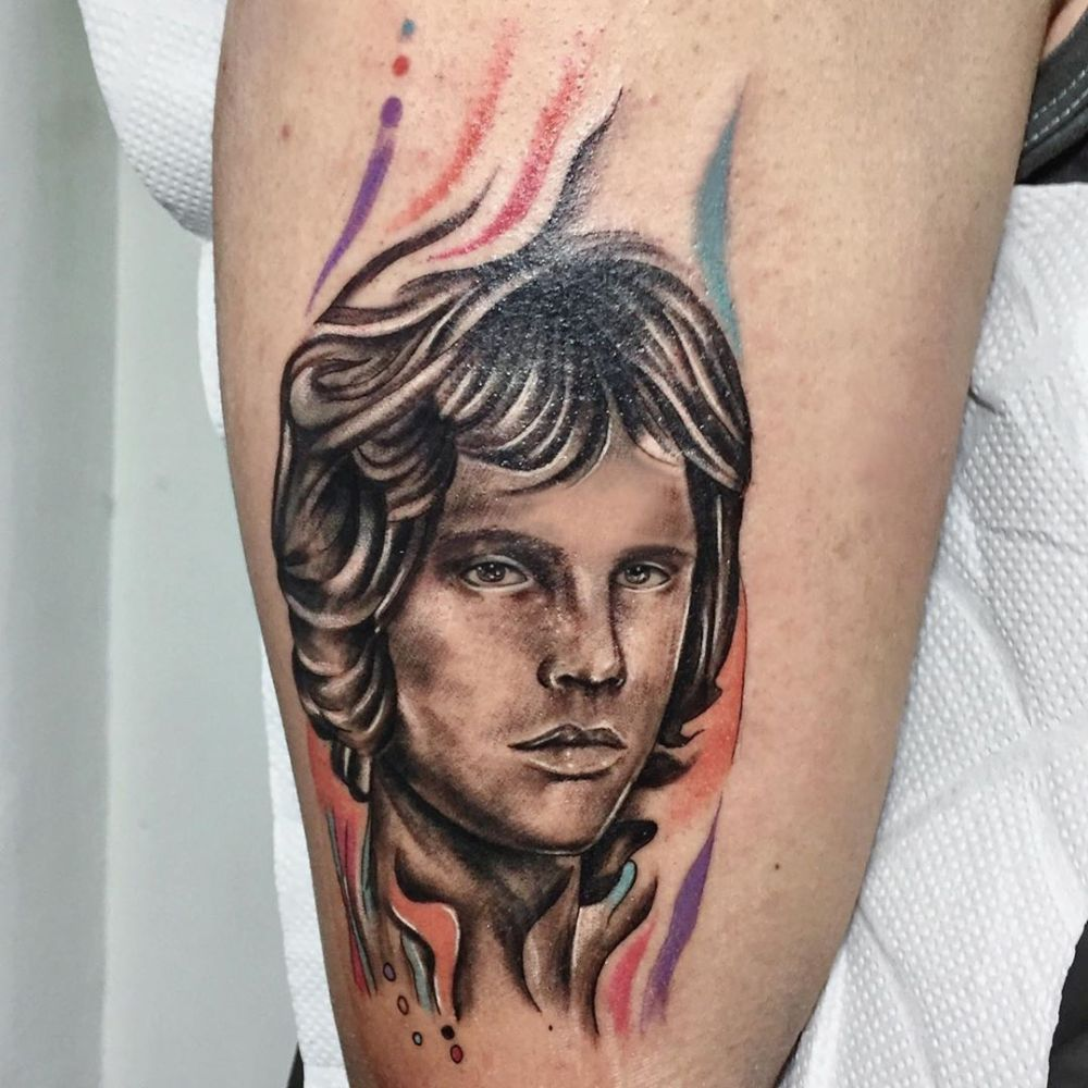jim morrison tattoo by raphaeldrawtattoo